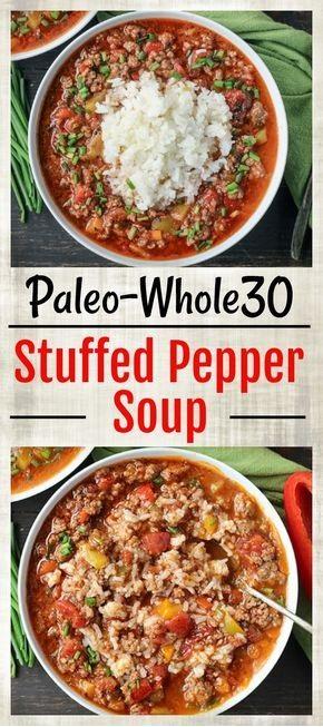 Paleo Whole30 Stuffed Pepper Soup