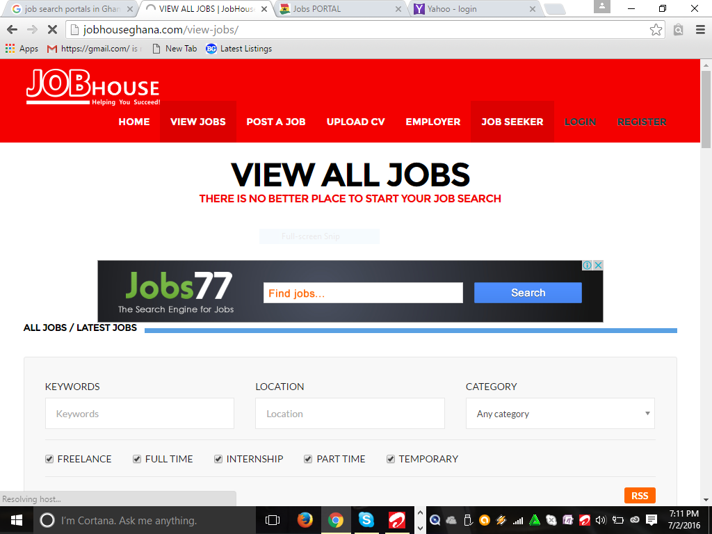 job search websites every unemployed graduate in should a huge body of recruitment job search resources is available on this site over hundred jobs are posted each week on careersin com