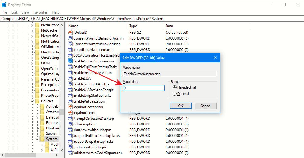 cara mengatasi kursor hilang setelah install ulang dengan regedit windows