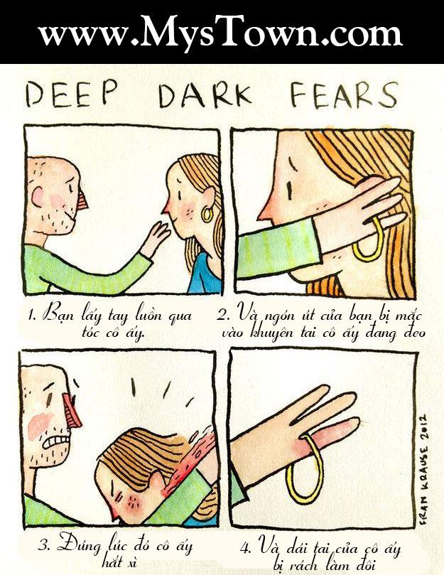 Tổng hợp các mẩu truyện tranh rùng rợn ngắn Deep dark fears