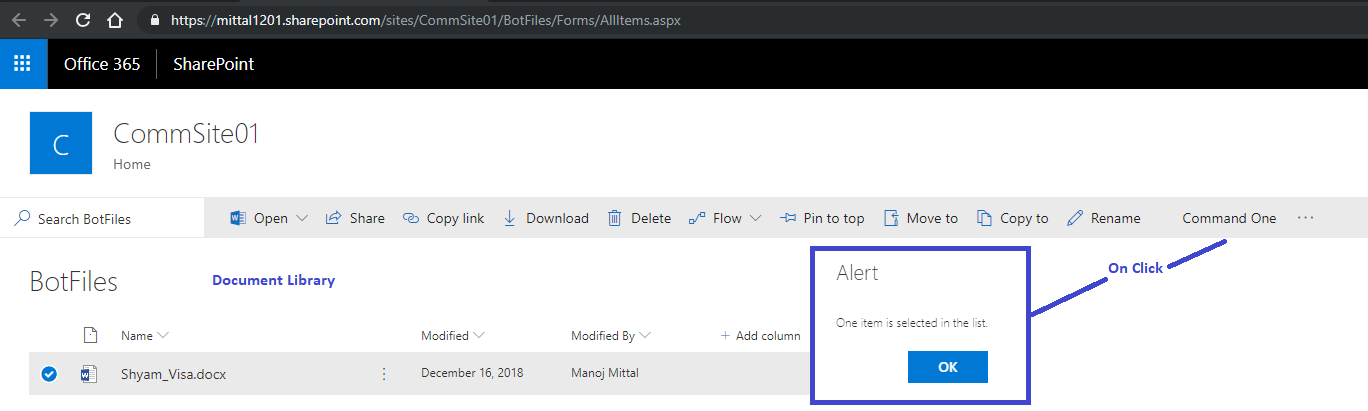 How to Add List View command Set To both List And Document Library