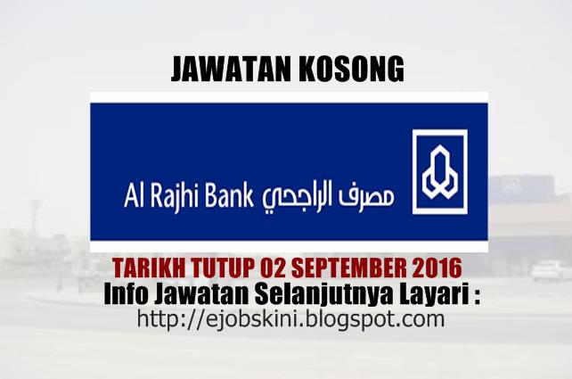 Jawatan kosong Al Rajhi Banking & Investment Corporation (Malaysia) Bhd