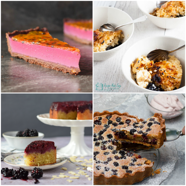 Dessert ideas using blackberries.