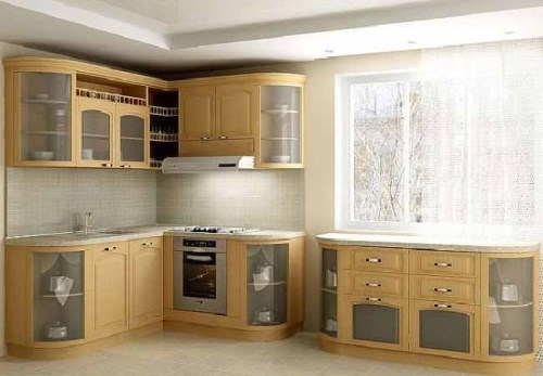 Interior Unik Pada Dapur Minimalis berbahan kaca
