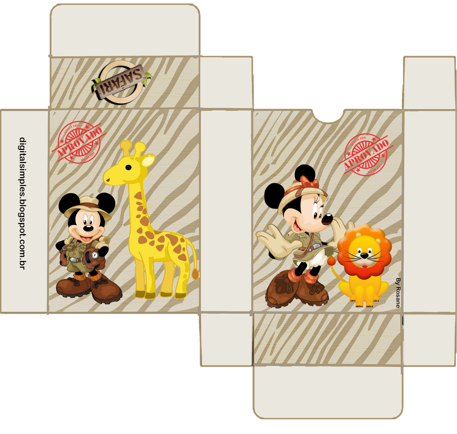 Mickey Y Minnie De Safari Cajas Para Imprimir Gratis Ideas Y