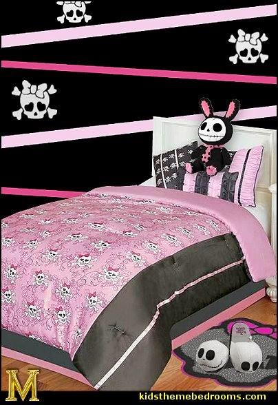 monster high-skull bedding-skull wall decals-monster high slippers