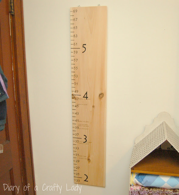 Crafty Teacher Lady February 2013: Diary Of A Crafty Lady: Wooden Growth Chart