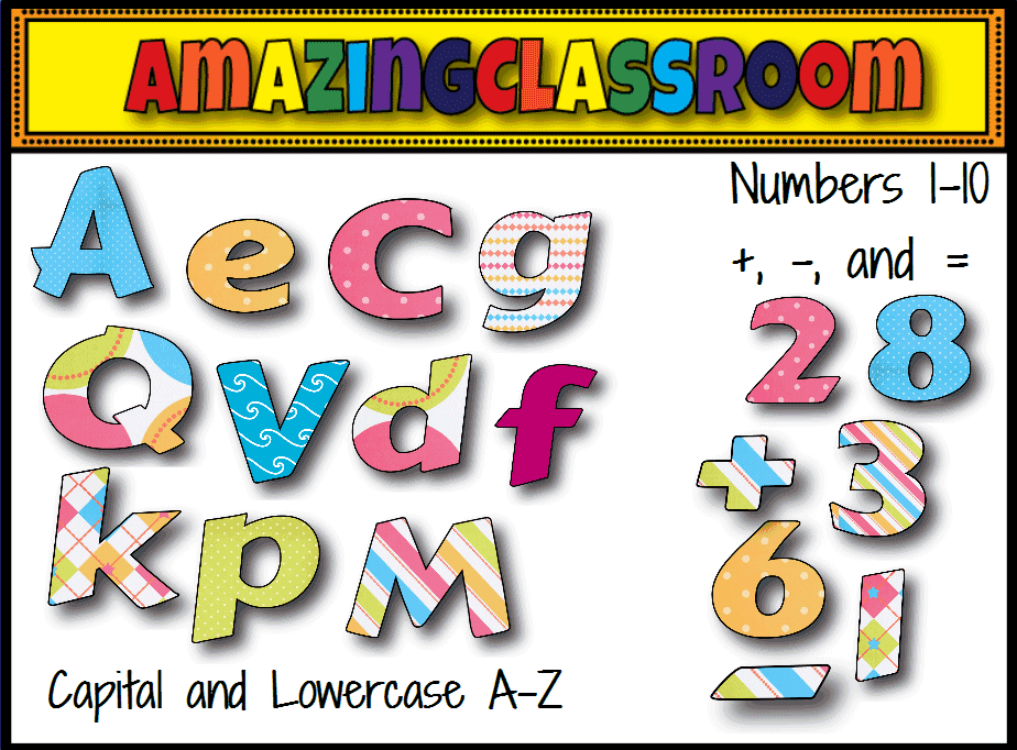 free clipart letters and numbers - photo #39
