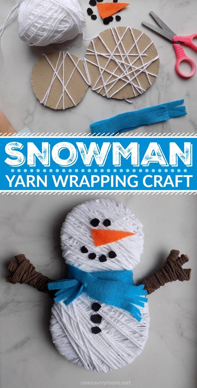 One Savvy Mom Nyc Area Mom Blog Snowman Yarn Wrapping Craft