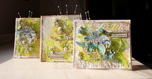 Hello : Inspire : Live Mixed Media Card set