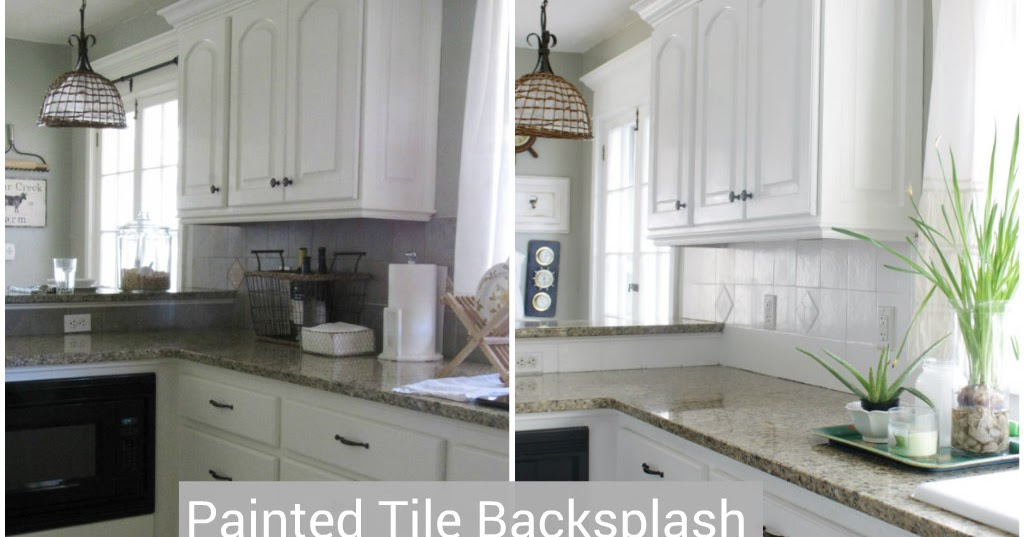 I Painted Our Kitchen Tile Backsplash The Wicker House