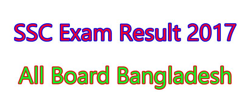 SSC Exam Result 2017 Education Board