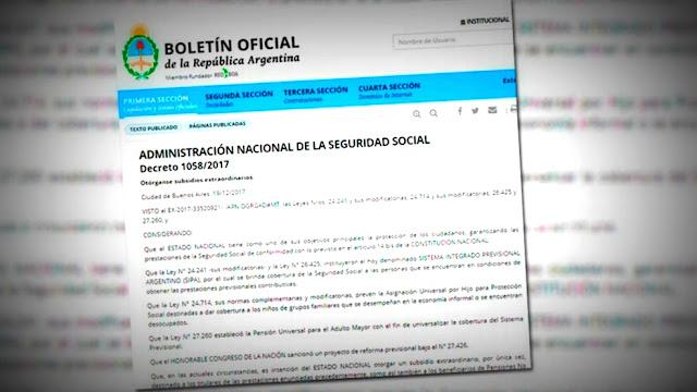 El Gobierno firmó este mediodía el decreto que establece un bono compensatorio