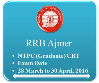 RRB+Ajmer+NTPC+Graduate+CBT
