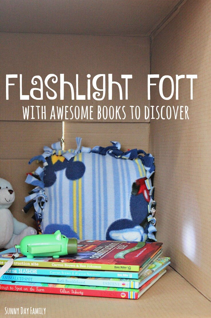 Make a Flashlight Fort! This is the ultimate no prep indoor activity for kids - just add some fabulous books and you've got the perfect place to read and explore.