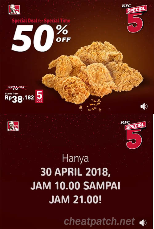 Diskon 50% KFC