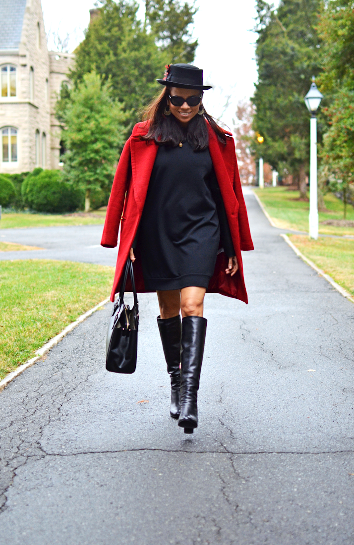 Black and red street style