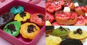 Resep Dan Cara Membuat Kue Cubit Rainbow Pelangi