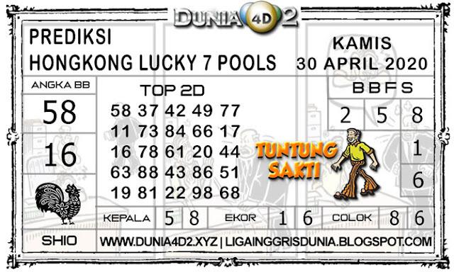 Prediksi Togel HONGKONG LUCKY7 DUNIA4D2 30 APRIL 2020