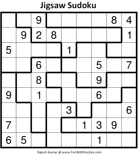 Slobbery image for jigsaw sudoku printable