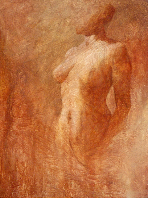 Standing Nude - Painting - Rosemary Marchetta
