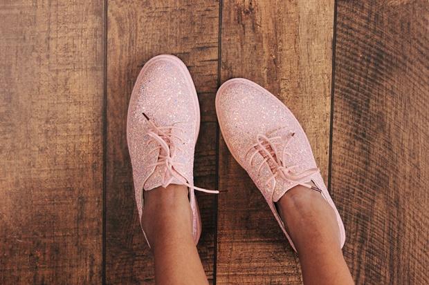 Recebidos, Rosegal, sapato de glitter, glitter shoes
