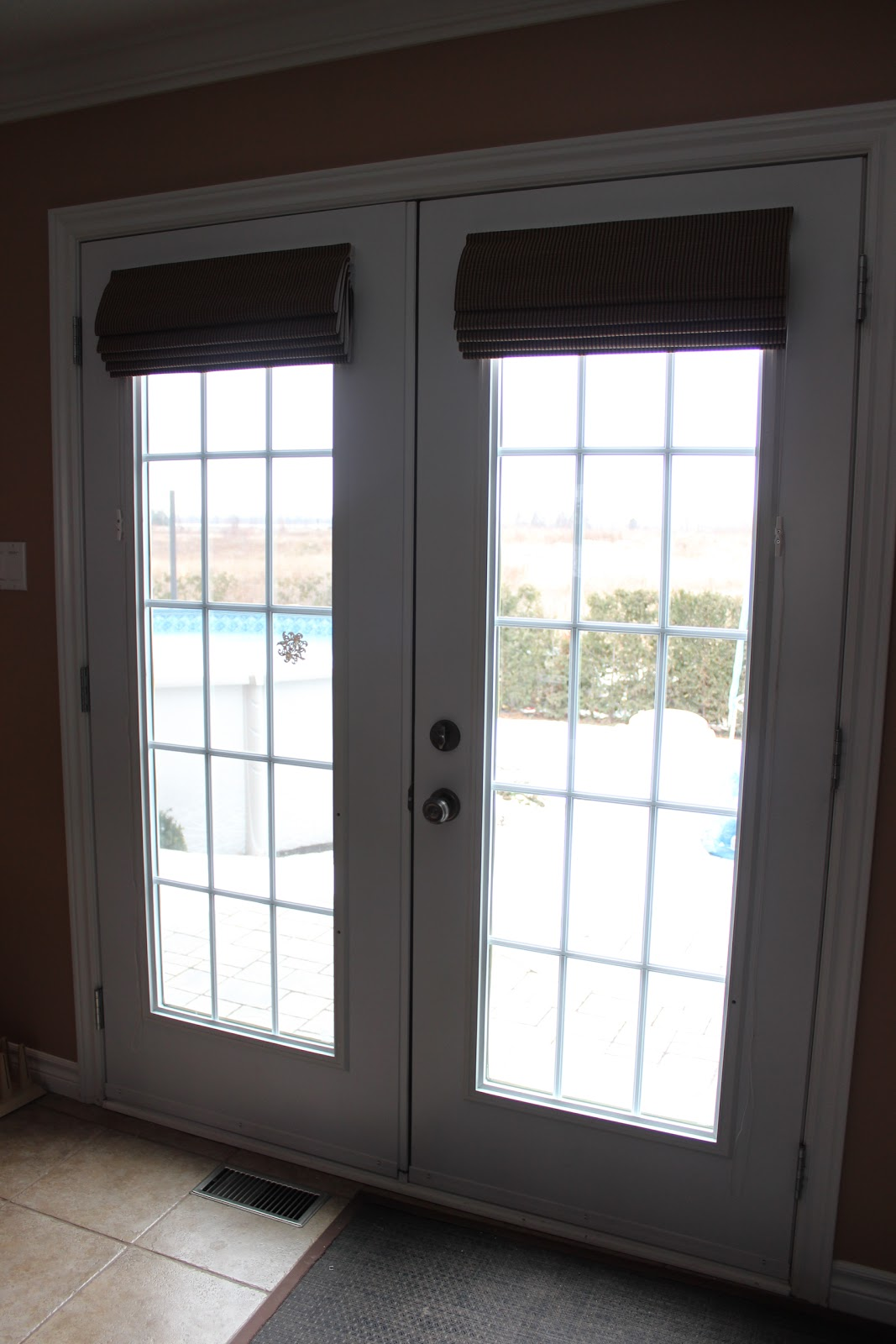 Roman Shades On French Doors