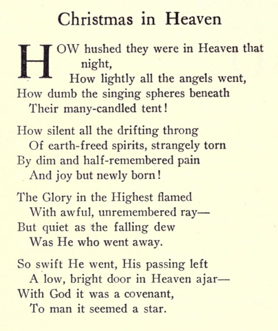 similiar facebook poem for first christmas in heaven keywords