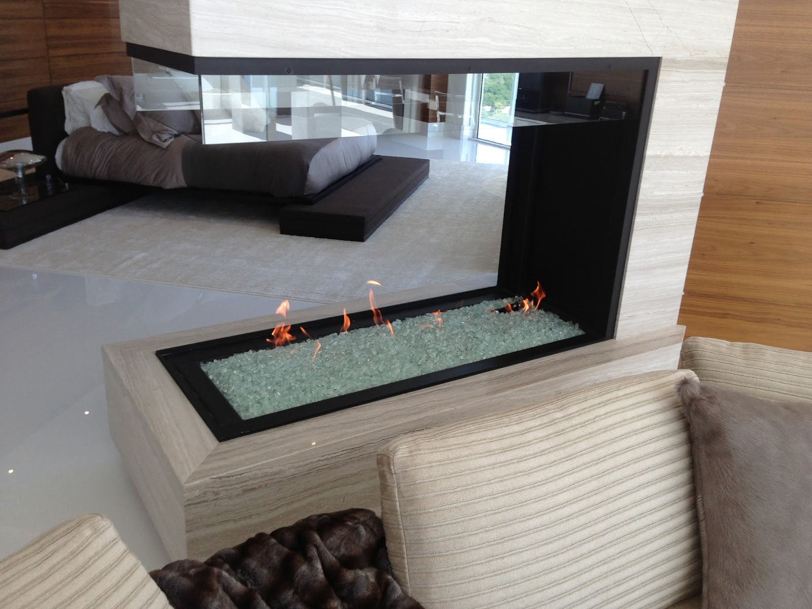 Custom Gas Fireplace Media Options