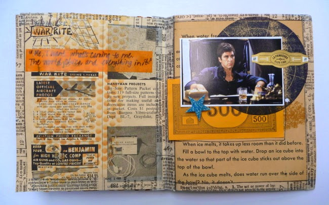 Handmade Scarface Mini Album Inner Page Al Desk by Dana Tatar