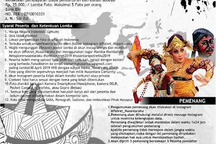 Lomba Fotografi Nasional Potret Indonesiaku 2019 Umum Terbaru