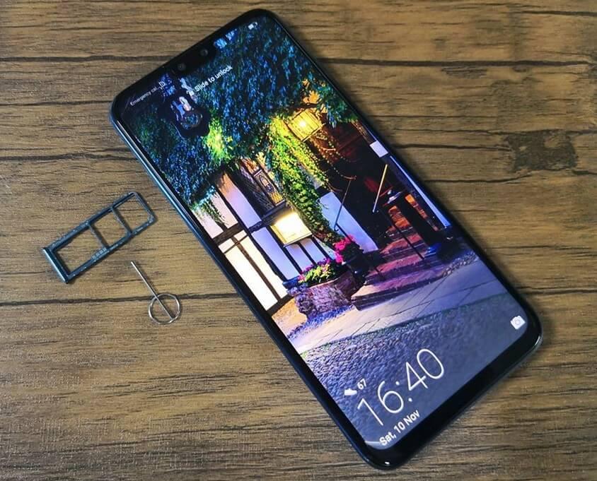 Huawei Y9 2019 Dual Nano SIM + MicroSD Card Tray