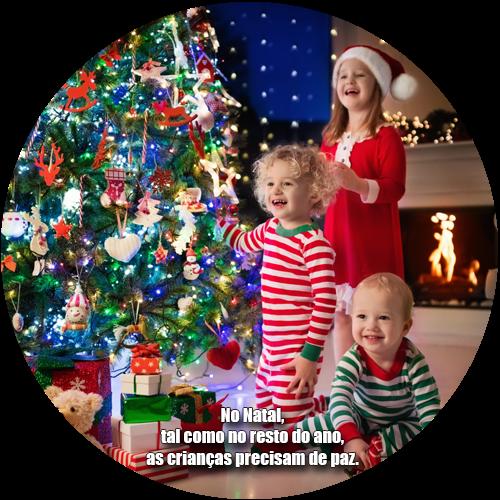No Natal, tal como no resto do ano, as crianças precisam de paz.