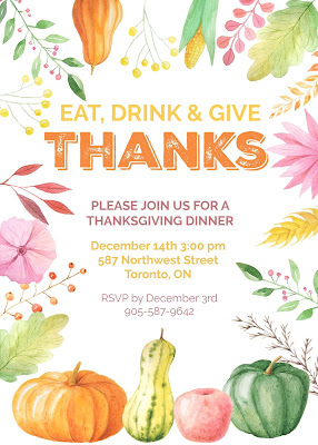 free editable thanksgiving dinner invitations