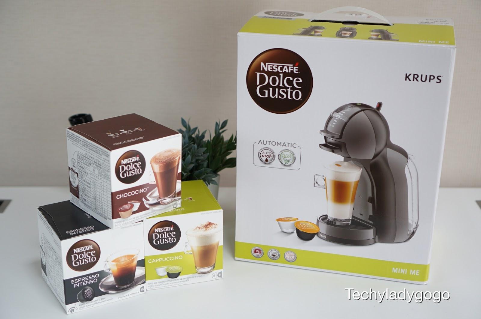 เนสกาแฟ Dolce Gusto รุ่น Mini Me แถมแคปซูลกาแฟมาให้ 3 กล่อง (กล่องละ 16 แคปซูล) 3 รสชาติ ได้แก่ Espresso Intenso, Cappuccino และ Choccocino พร้อมรับซ่อมและส่งคืนถึงบ้าน และยังแถม Variety pack มาให้อีก 6 แคปซูล ทั้งหมดนี้ลดพิเศษจากราคา ฿4,490 เหลือเพียง ฿3,490