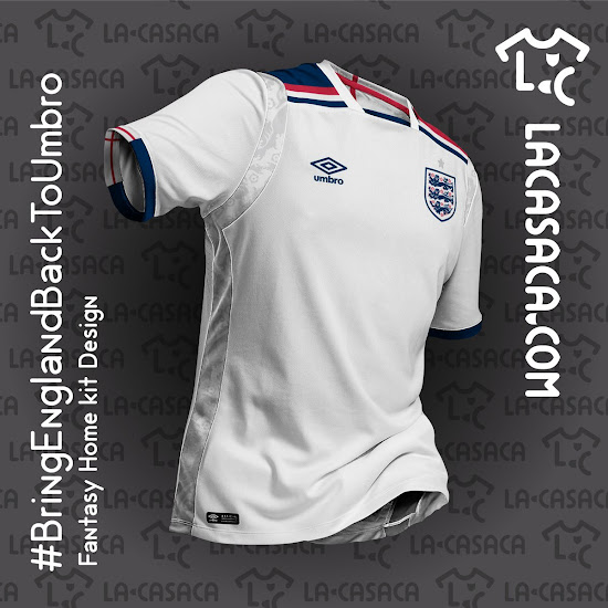 2a3dc5cdd55 Stunning Umbro England Home & Away Concept Kits Revealed - Footy ...