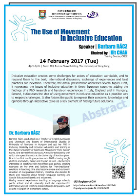 講座推介 : The Use of Movement in Inclusive Education