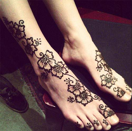 Henna Tangan Simple Elegan Makedes Com