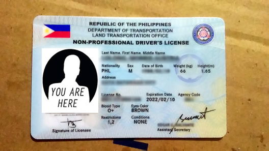 new non-pro driver's licence card with 5 years validity