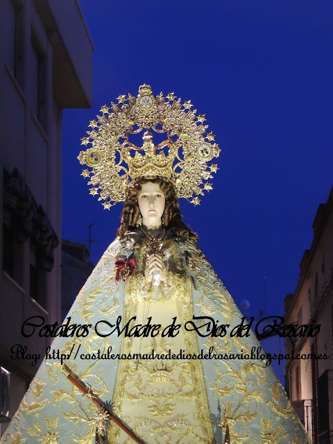 Imágenes del Rosario extraordinario de Nuestra Patrona
