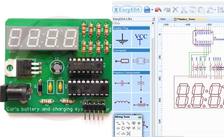 EaseyEDA - Plataforma gratuita para desenvolver PCBs facilmente.