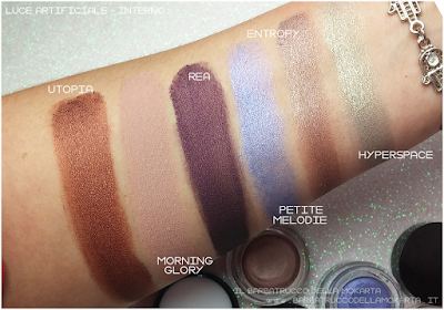 SWATCHES POTION PARADISE OMBRETTI CREMA NABLA CREME SHADOW