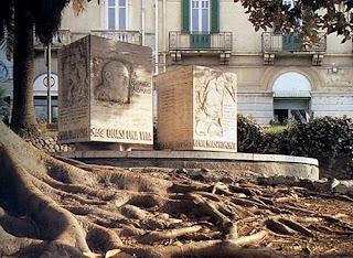 The monument to Corrado Alvaro in Reggio Calabria