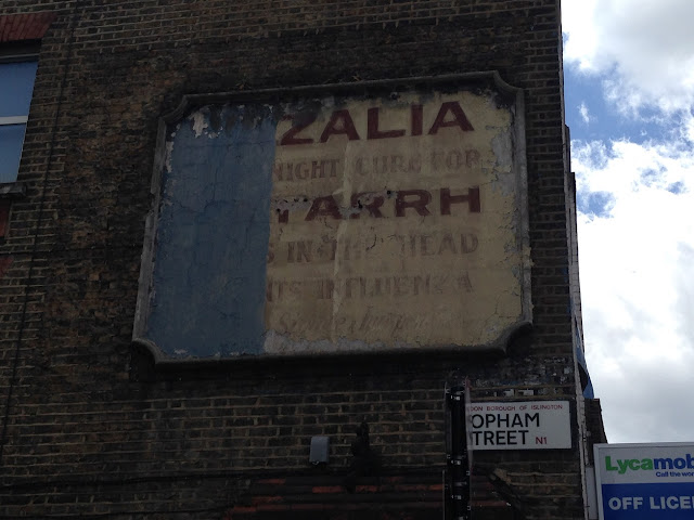 Ghost sign, Islington, London N1