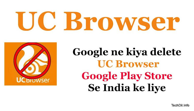 Deleted UC Browser from Google Play Store