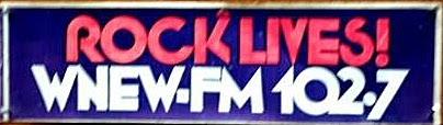WNEW 102.7 radio station bumber sticker... fuckin' Scott Muni LIVES!!!