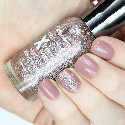 Sally Hansen Xtreme Wear Nail Colour in 200 Strobe Light nail swatch review drugstore holo holographic nail polish