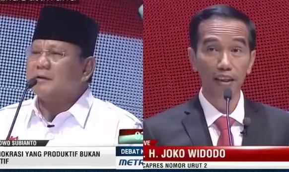 Prabowo dan Jokowi Nyanyi Bareng