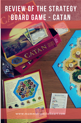 Review of the strategy board game Catan, great family fun for 8+ years