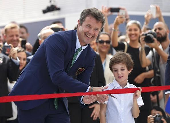 Crown Prince Frederik, Crown Princess Mary, Princess Marie, Prince Joachim, Prince Nikolai, Prince Felix, Prince Henrik, Princess Athena in Rio de Janeiro, Brazil